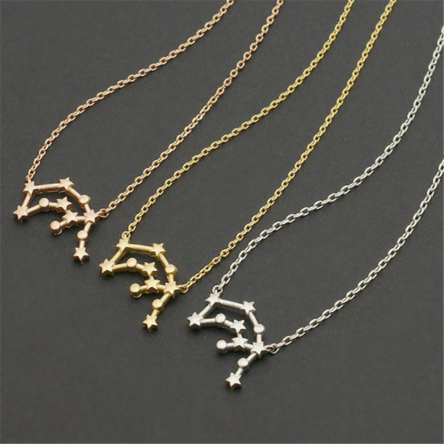 material constellation necklace main product zodiac