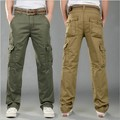 Military Style Men's Tactical Cargo Pants Cotton Casual Side Pockets Pantalon Palazzo Pants Khkai Black Green Men Cargo Trousers