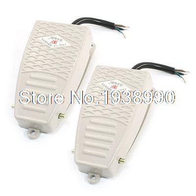 2 Pcs AC 380V DC 220V SPDT Momentary Control Foot Pedal Switch EKW-5A-B [vk] z 01h b switch snap act spdt 100ma 125v switch