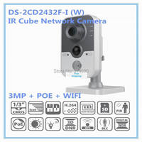 DS 2CD2432F I W 3MP IR Cube Network Camera Multi Function 1080p Built In Microphone Built