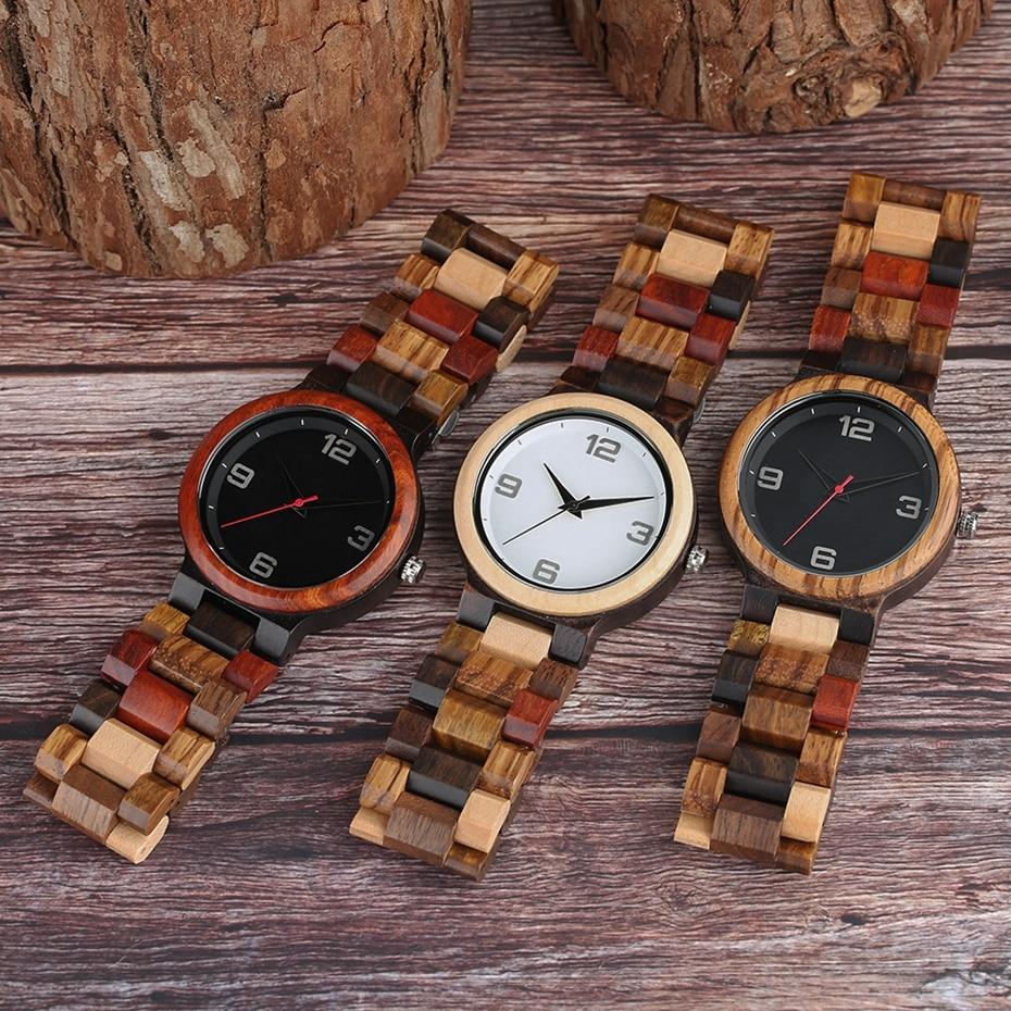 Vintage Full Men Quartz Wooden Watch 13
