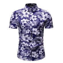 Floral Shirt Summer Flower Social Shirt for Men Hawaiian Beach Style Blouse Men's Clothing fashion slim fit New