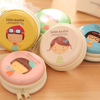 New sale 1PC Mini Earphone SD Card Macarons Bag Storage Box Case Carrying Pouch small pills jewelry box organizing