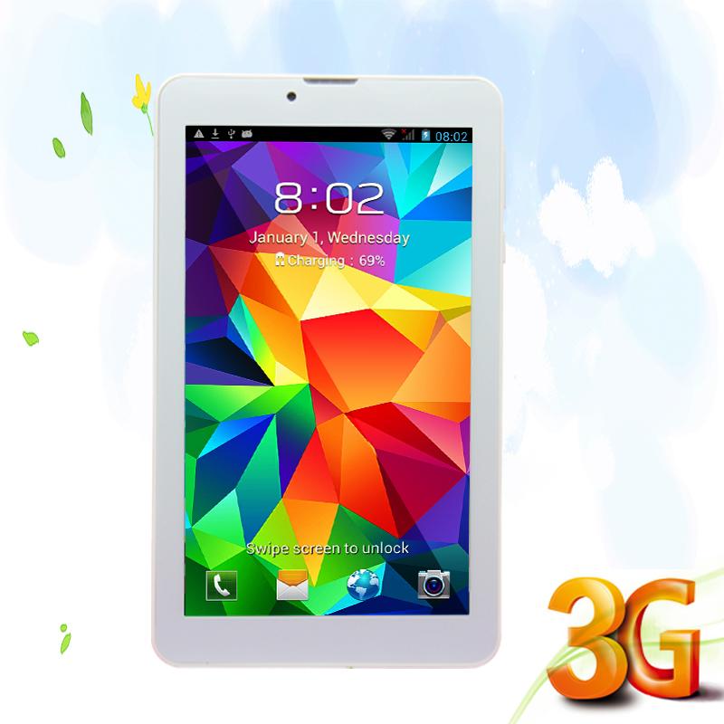 Prix pour Design Agréable 7 Pouce Appel Téléphonique Tablette Double Caméra Dual Core Double SIM Carte 2G 3G Appel Et Internet WIFI FM Or et Argent couleur