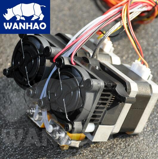 wanhao extruder with two nozzles MK10 extruder for duplicator 4, 4X, 4S