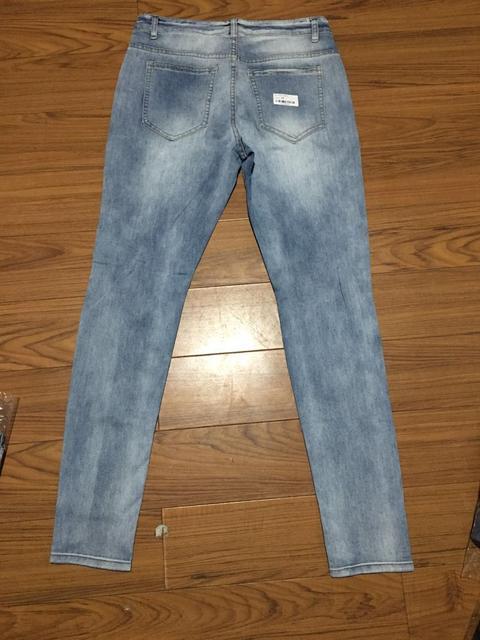 New Skinny Jeans men Streetwear Destroyed Ripped Jeans Homme Hip Hop Broken modis male Pencil Biker Embroidery Patch Pants 37