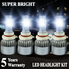 9006 HB4 9005 HB3 LED Headlight Fog Light Bulb, High Power DC 12-24V 6000K Hi/Lo Single Beam DRL Lamps All-in-One Conversion Kit(China)