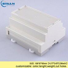 Пластиковые корпуса на din-рейке, небольшая распределительная коробка ABS для электронных поделок, пользовательский корпус PLC для электроники, коробка 106*87*60 мм