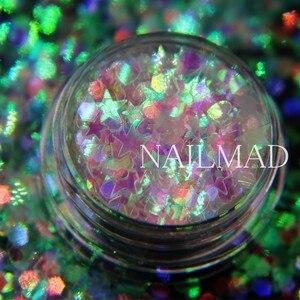 Image 4 - 3ml/box Nail Art Glitter Mix Star Heart Hexagon Acrylic Glitter Mixes Nail Sequins Colorful Glitter Nail Art Decorations