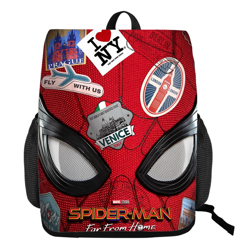 Spider Man Bagpack Teenager Knapsack Student School Backpack Black