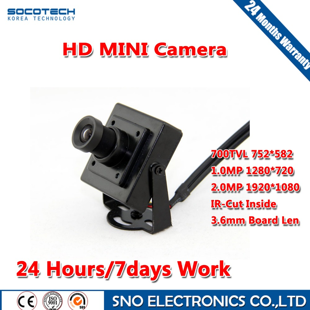 SOCOTECH 700TVL 3.6mm Board Lens Ultra Low Lux Day and Night Color image Camera with mini square housing land tenure housing and low income earners