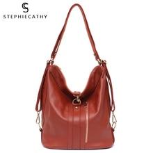 SC Women Genuine Leather Handbags Cow Leather Zip Bags Large Capacity Hobo Bags Ladies Shoulder Belt Bags High Quality Bags