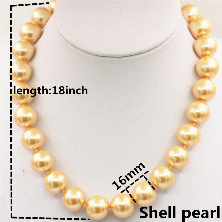 "Fashion 22 mm South Sea Blanc Baroque Coquille Perles Collier 18/"" AAA"
