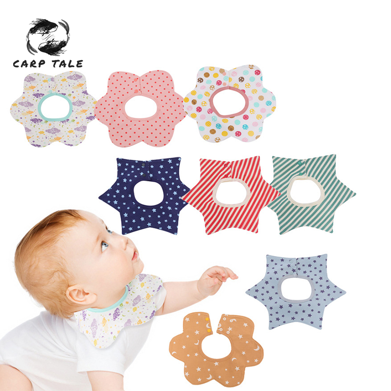 Reusable Washable Cotton PU Baby Bibs Burp Cloth Print Arrow Wave Triangle Baby Bibs Cotton Adjustable Baby Meal Bib Infant Bibs