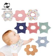 Reusable Washable Cotton PU Baby Bibs Burp Cloth Print Arrow Wave Triangle Baby Bibs Cotton Adjustable Baby Meal Bib Infant Bibs недорого
