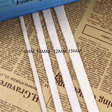 White flat cotton rope 6mm/10mm/12mm/15mm hollow clothes pants cap drawstring