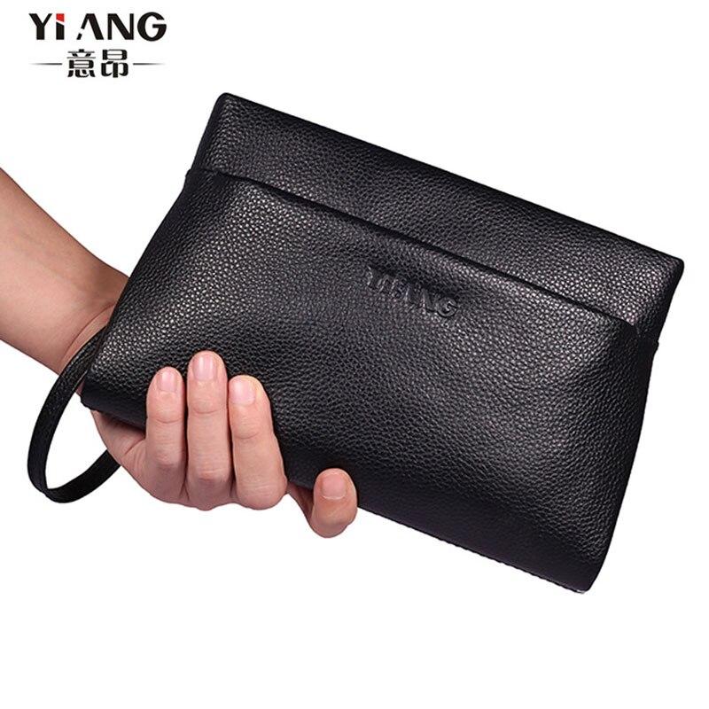 Besorgt Neue Männer Leder Spleißen Cortex Hohe Qualität Mode Handtasche Kupplung Tasche Freizeit Datei Paket Handtaschen