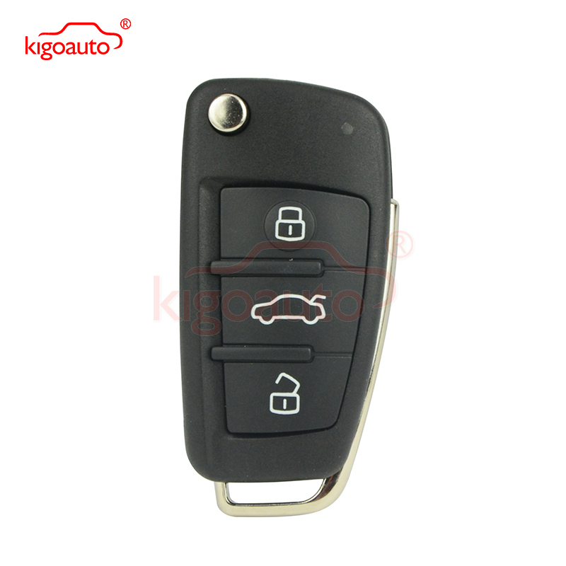 8P0837220D flip remote key 3 button 434Mhz HU66 blade for <font><b>Audi</b></font> <font><b>A3</b></font> TT 2007 2008 2009 <font><b>2010</b></font> image