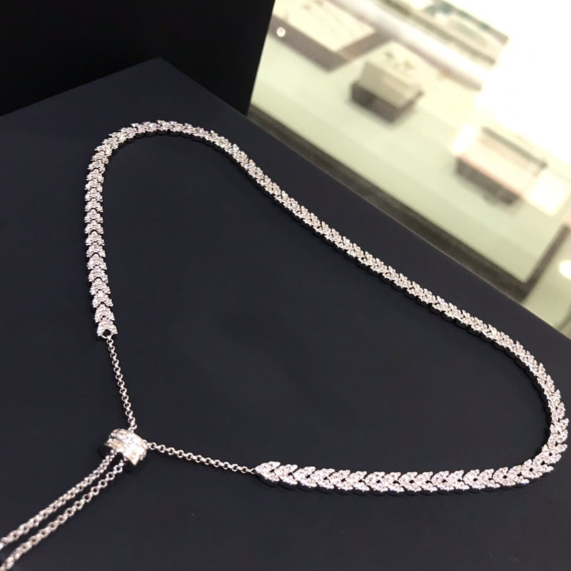 Image 2 - UMGODLY Luxury Brand High Quality White Heart Wheat Ears Necklace  Micro Cubic Zirconia Stones Women Fashion Jewelry New ArrivalPendant  Necklaces