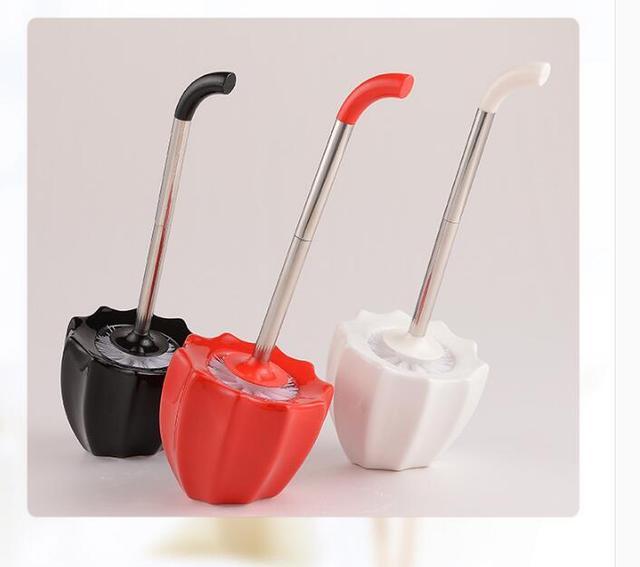 High Quality Creative European Ceramic Umbrella Toilet Brush Set Soft Toilet Brush Bathroom Accessories 0322