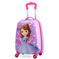 Children's Suitcase Child Trolley case Luggage kids Schoolbags travel Suitcase with Wheels 3D Cartoon18inch case kid's Toys box