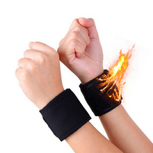 2 Pcs/Pair Adjustable Elastic Wrist Support Bracer Protect Wrapping Strap Reliable Weight Lifting