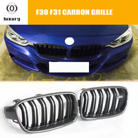 M3 Style Carbon Fiber + ABS Front Kidney Grill Grille for BMW F30 F31 320i 328i 335i 328d Sedan & Wagon ( can't fit F34 GT )