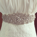 Magnífico Cristal artesanal Da Moda Nupcial Vestido Floral Mulheres Cintos de Luxo Feminino Diamante Cintura Cinturão Headband para o Casamento