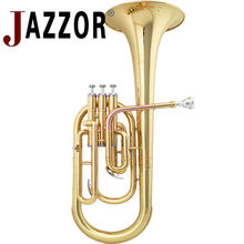 Professional Alto Horn JAZZOR JYAH-E100 E Flat keys high grade Gold Brass wind instrument with mouthpiece and case