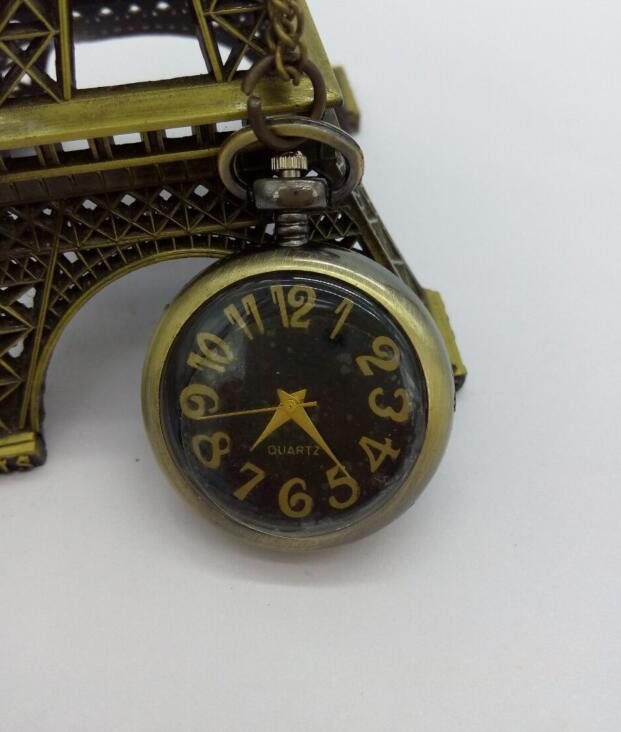 Bronze Pendant Quartz Girl And Boy Necklace Pocket Watches Birthday Gift
