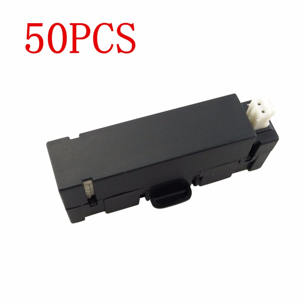 For 50PCS H37 mini helicopter spare parts UAV lithium battery With H37mini Folding four-axis aircraft Wholesale cheap 3pcs battery and european regulation charger with 1 cable 3 line for mjx b3 helicopter 7 4v 1800mah 25c aircraft parts xt30