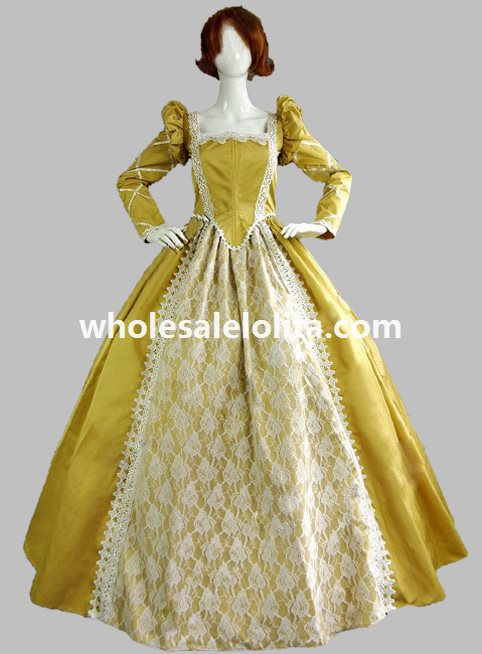 Buy victorian period women long dress for What to wear under wedding dress corset