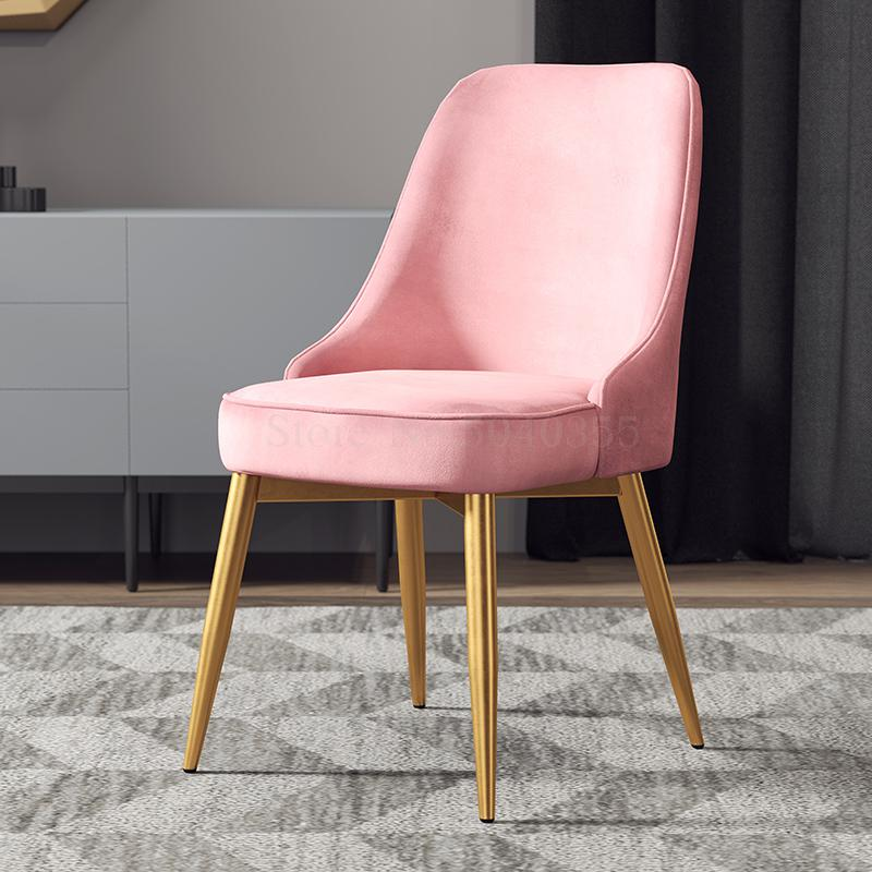 Home Dining Chair Nordic Creative Leisure Soft Chair Cafe Modern Minimalist Chair Light Luxury Small Apartment Living Room Chair
