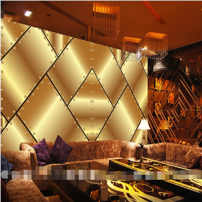 Buy wall wallpaper for living room golden for Decor mural metal