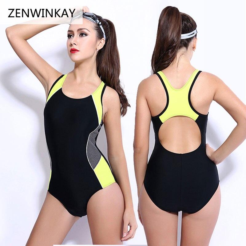 2017 Summer Swim Wear Female Plus Size Swimsuit Sports One Piece Swimwear Women Bathing Suit Big Size XS S M L XL XXL XXXL XXXXL недорого