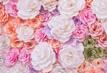 Laeacco Wedding Flower Backgrounds Blossom Rose Wall Birthday Party Decor Child Baby Portrait Photography Backdrops Photo Studio