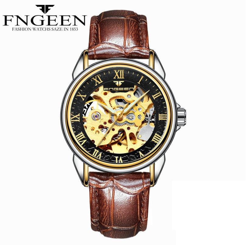 d49cb5d0500 Mulheres Relógios Marca de Topo Esqueleto Relógio Mecânico Automático
