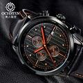 OCHSTIN Nueva Marca de Moda de Hombre Casual hombres Leater Correa Reloj Militar Del Ejército Del Deporte Del Cronógrafo de Pulsera de Lujo Reloj de Cuarzo GQ042