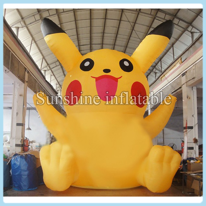Giant 6m hot sale inflatable pikachu, inflatable pokemon for advertising