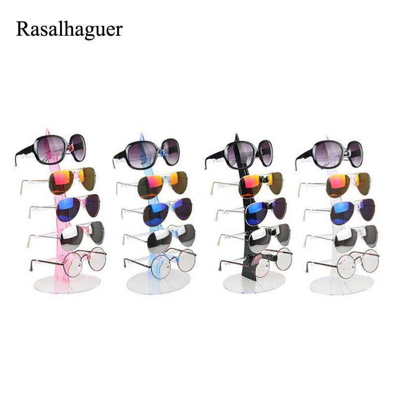Nice 5 Layers Sunglasses Holder Glasses Display Rack Counter Stand Jewelry Show Packaging & Display Eyeglasses Storage Tool