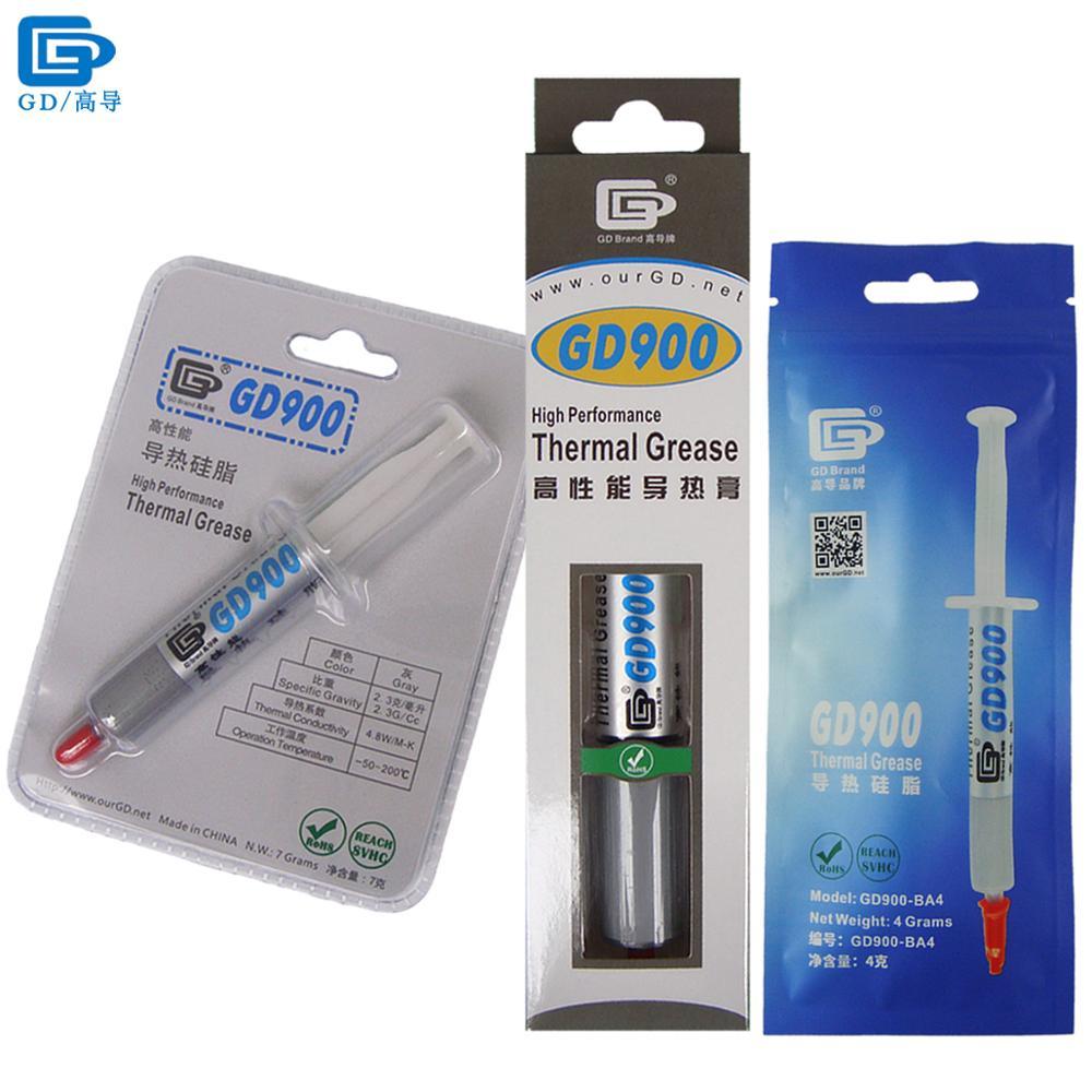 GD900 pâte à graisse conductrice thermique Silicone plâtre dissipateur de chaleur composé haute Performance gris pour CPU BA4 BR7 BX30