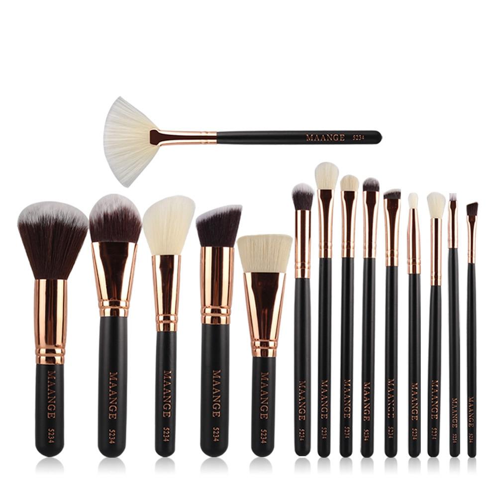 цена на 15-18pcs Professional Nylon Fiber Makeup Brushes Kit Cosmetic Foundation Powder Brush Fan Blush Brush maquiagem Fashionable Tool