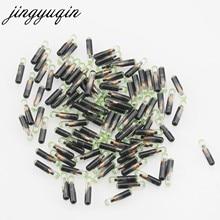 Jingyuqin 10 pçs/lote novo transponder de chave de carro, id48 t6 crypto, desbloqueado, com chip para vw/audi/seat/skoda/porsche