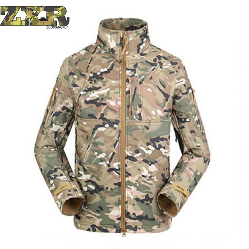 Automne militaire uniforme doux Shell polaire hommes armée tactique Multicam imperméable Camouflage coupe-vent