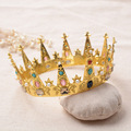 Золотой средневековый урожай барокко стиль диадемы волосы украшения партии/балет/этап принцесса этап производительность головные уборы