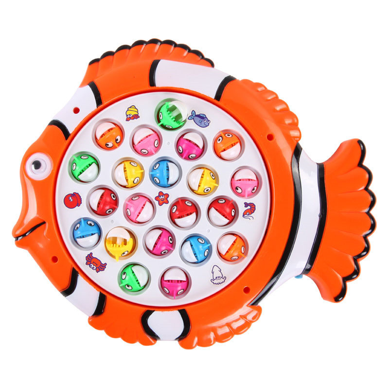 Kunststoff Elektrische Rotierende Magnet Angeln Spiel Kid Kinder Pädagogisches Spielzeug Puzzle Spielzeug Elektrische Musik Platte Spiel P25