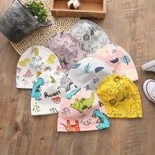 Chapéu unissex para bebês, chapéu com camada de dinossauro para meninos e meninas, chapéu de desenho animado para primavera e outono para crianças, recém-nascidas