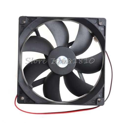 12 V 2 Pin Cooler небольшой вентилятор охлаждения 120 мм x 120 мм x 25 мм ПК Коробка Системы гидравлический вентилятор охлаждения для компьютера радиатора