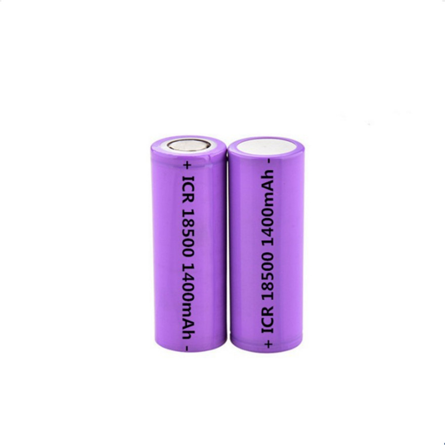 2Pcs/Lot 3.7V 18500 1400mAh rechargeable lithium battery 3.7V strong light flashlight anti-light special lithium battery image