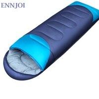 Ennjoi Пух хлопок спальный мешок зима-осень конверт с капюшоном спальный мешок Кемпинг вакуумный кровать кемпинг Аксессуары